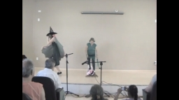 Apresentação teatral do departamento infantil da Associação Catarinense para Integração do Cego.